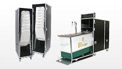 Flightcases für Messe- & Gastro-Technik, Küche, Catering, Kaffeemaschine, Octanorm-Messestände