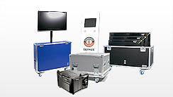 Flightcases für AV & Medentechnik, Plasmacases, Beamer-, Projektor-Flightcases, TFT Koffer