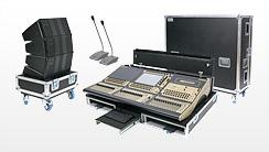 Flightcases für Tontechnik und Audiotechnik, Mixercases, Boxencases, Konferenztechnik