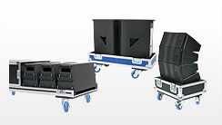 Boxencase, Lautsprechercase, Flightcases für Lautsprecherboxen, Line Array und Bühnen-Monitore