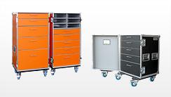 Schubladencase, Flightcases mit Schubladen