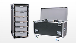 Vario-Flex Sprinter Flightcases, Sprinter-Cases, Sprinter Packmaß