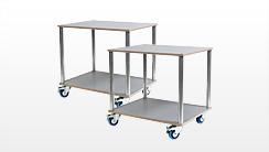 Lager- und Transporthilfen, Lagerwagen, Transportwagen, Schleifmaschinenwagen
