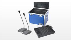 Flightcases für Konferenztechnik, Sprechstellen-Koffer, Mikrofonkoffer, Mikrofoncases