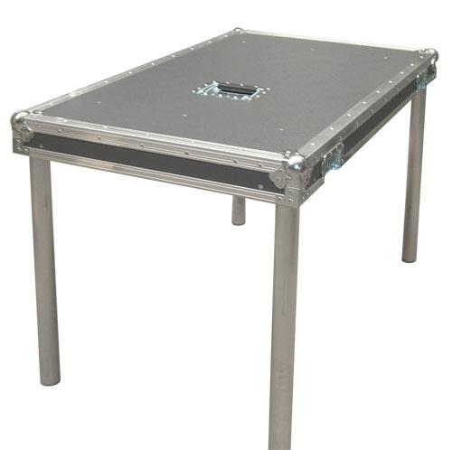 Deckel als Tisch mit Alu Rund-Tischbeinen 104701