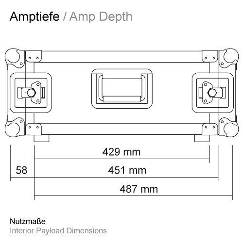 Ampracktiefe RS-RS 429 mm 11503