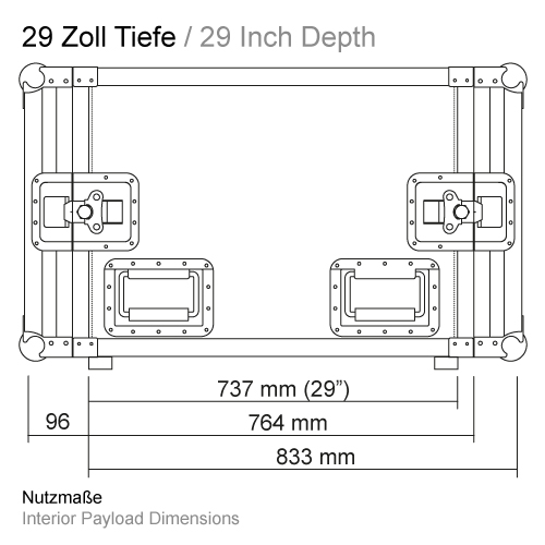 29 Zoll Tiefe RS-RS 737 mm 11505GP29