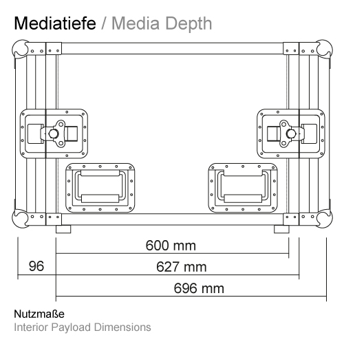 Mediatiefe RS-RS 600 mm 11506GP
