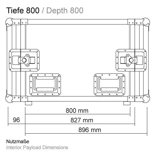 Sondertiefe bis RS-RS 800 mm 11507P