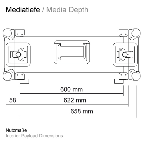 Mediatiefe RS-RS 600 mm 11509