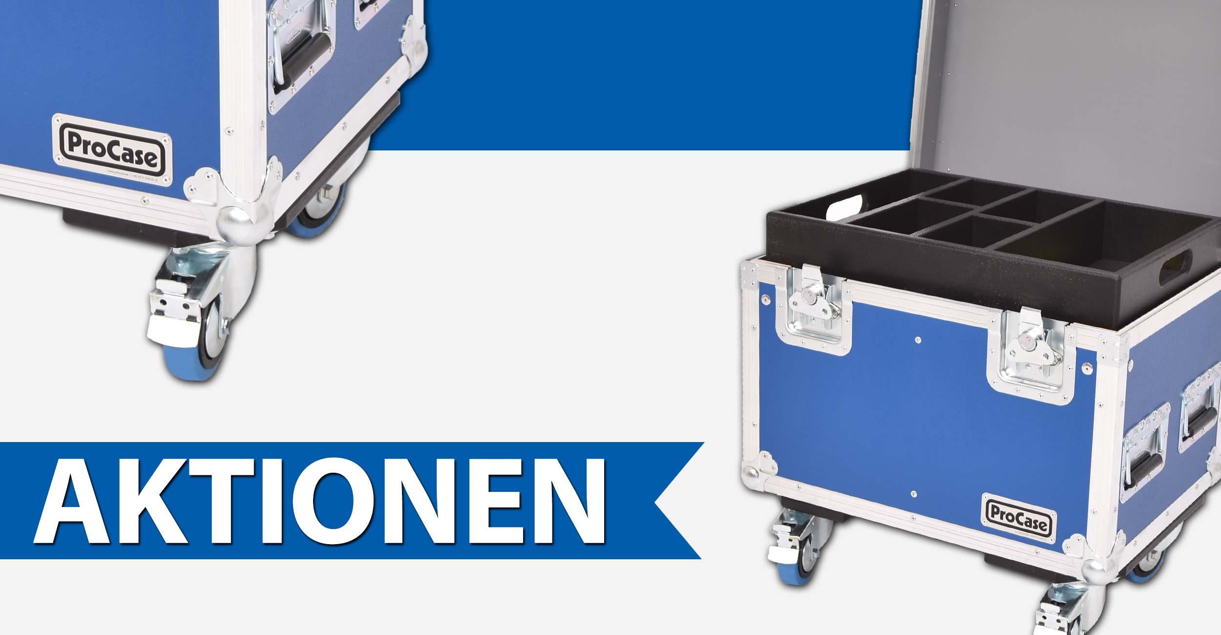 ProCase Blue Sale! Entdecke unsere Aktionsangebote für unsere PackTruhe, das Rigging-Tool-Case und das Stativ bzw. Hardware-Case