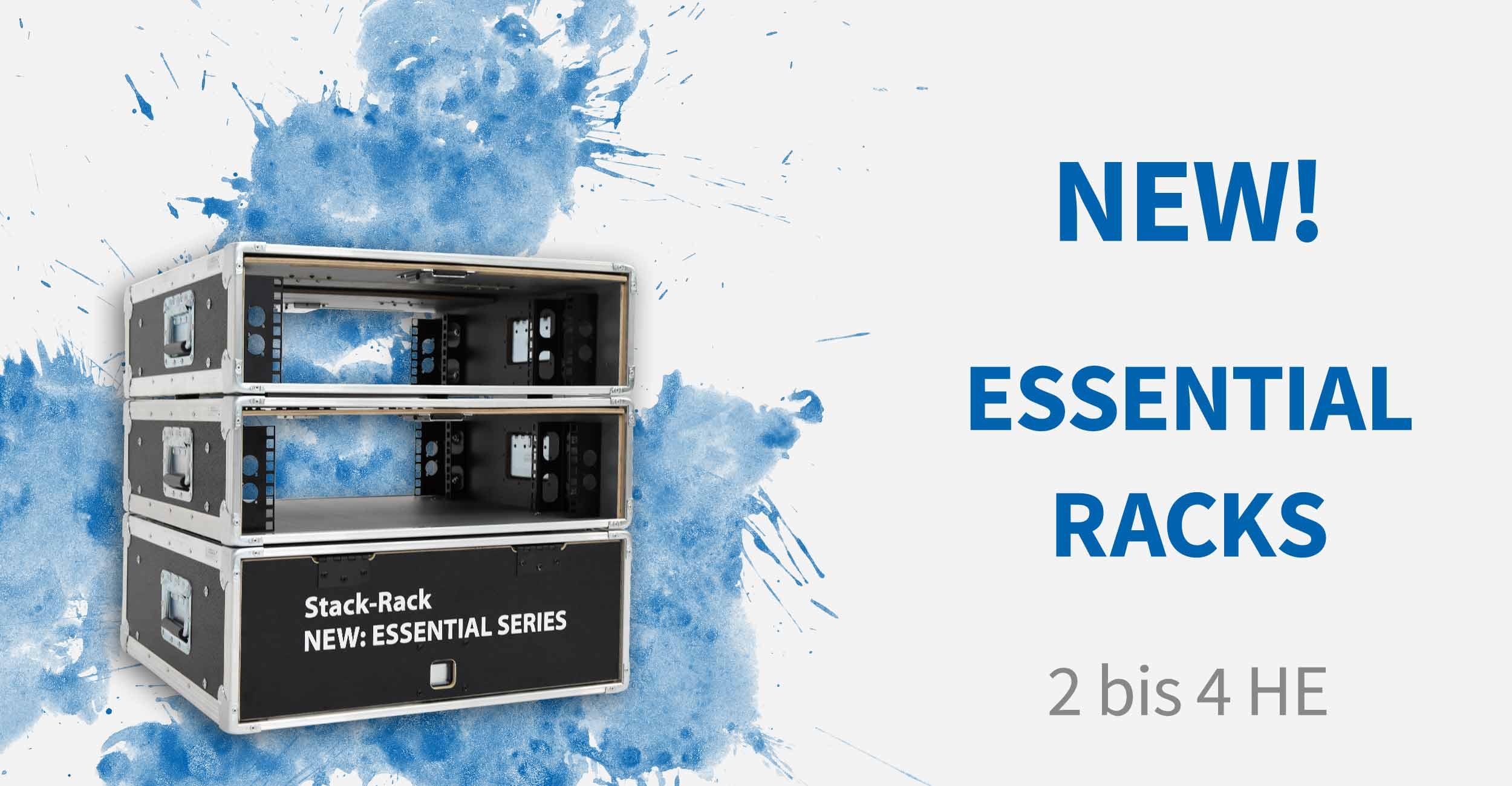 NEW! Essential Racks mit Quick Slide Doors - von 2 bis 4 Höheneinheiten