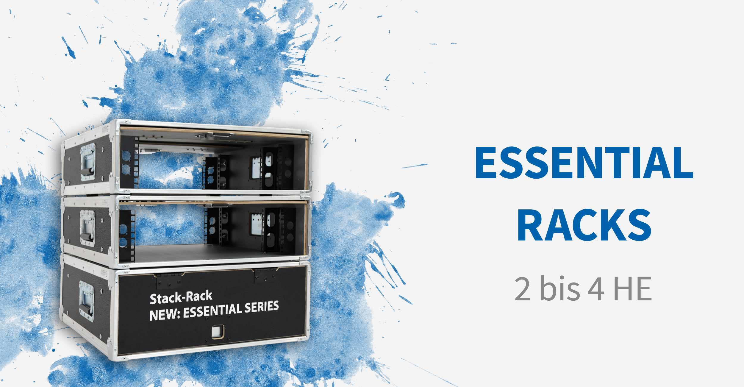 Essential Racks mit Quick Slide Doors - von 2 bis 4 Höheneinheiten