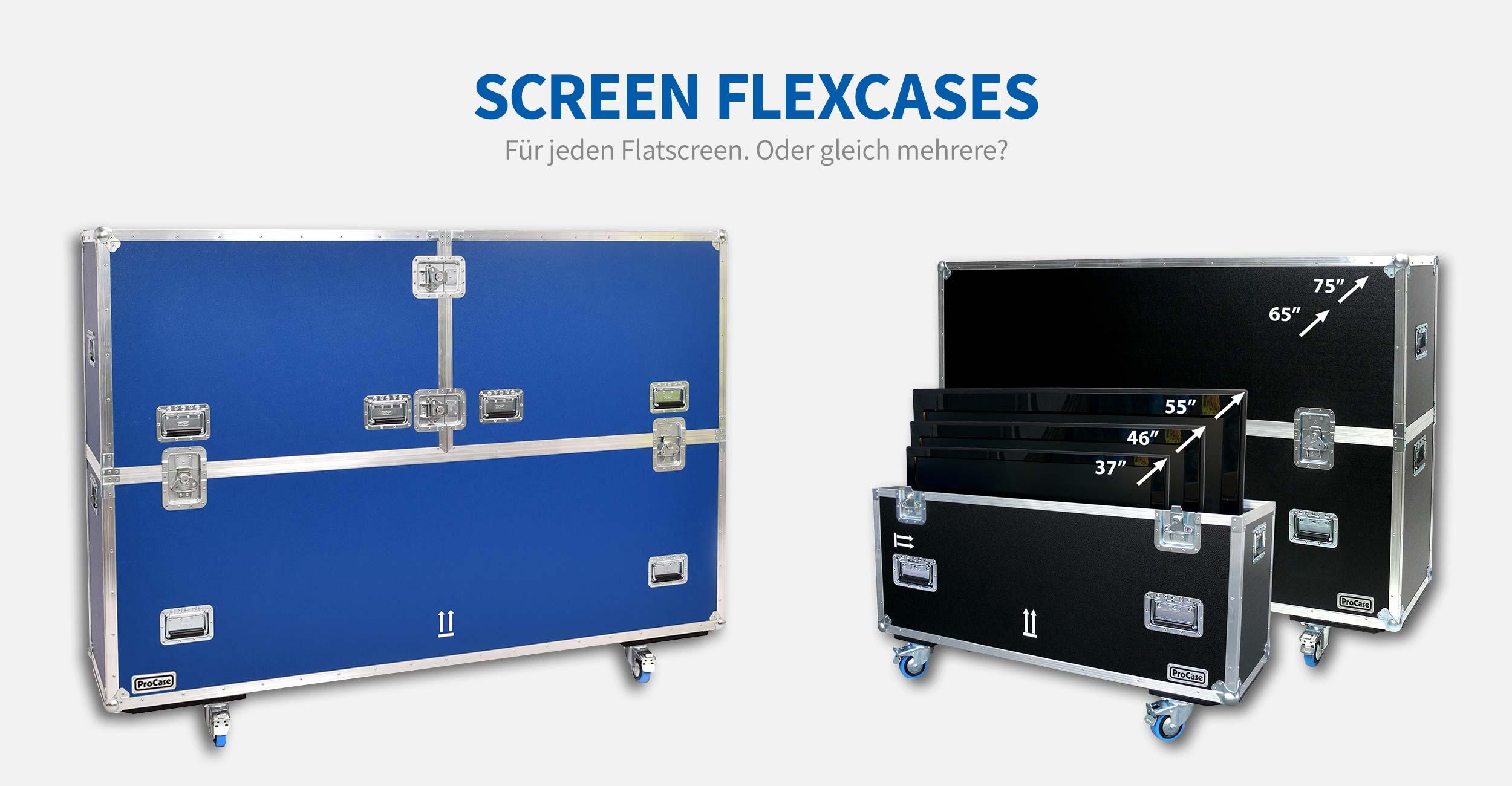 Screen FlexCases. Für jeden Flatscreen. Sogar für mehrere. Für alle Bildschirmgrößen bis 85 Zoll erhältlich.